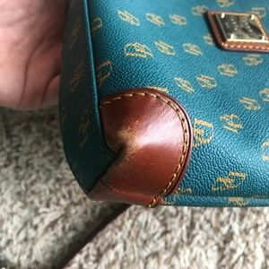 Dooney & Bourke Bags - Teal Dooney & Bourke Crossbody Leather Purse